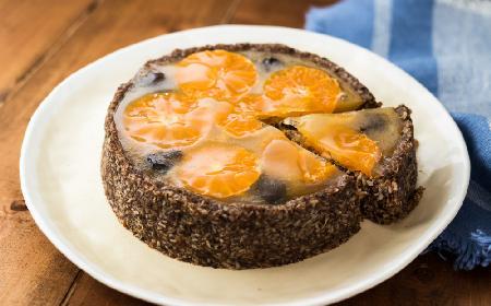 Ciasto owsiane z daktylami i pomarańczami
