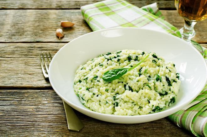 Risotto verde - dobry przepis na ryż ze szpinakiem