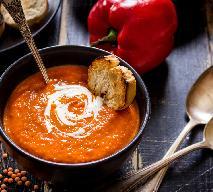 Zupa z czerwonej soczewicy i papryki