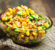 Surówka z kukurydzy z ogórkami i rzodkiewką