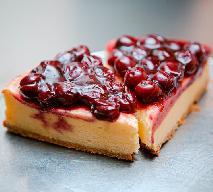 Ciasto FILADELFIA - boskie ciasto bez pieczenia z masą serową i wiśniami z kompotu