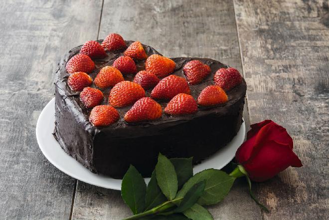 Tort Serduszko na Walentynki